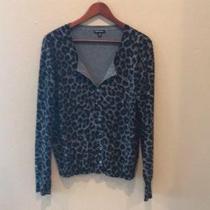 Soft Cheetah Print Cardigan Sweater XL